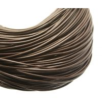Chocolate Brown Round Leather Cording