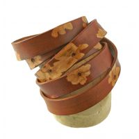 ECO Friendly Tooled Leather Strap