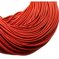 Red Round Leather Cording