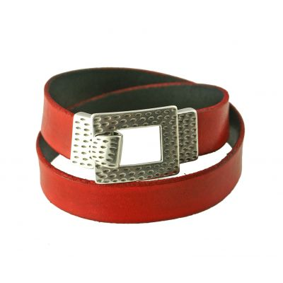 Leather strap bracelet example1