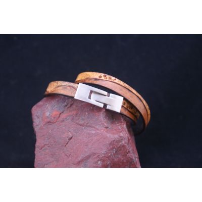 Buckle for leather bracelet